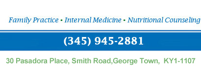 Family Practice, Internal Medicine, Nutritional Counseling. Call Us: (345) 945-2881. Address: 30 Pasadora Place, Smith Road, PO Box 30073 Grand Cayman KY1-1201